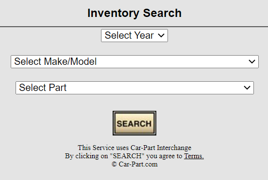 Snyder's Auto Body Inventory Search Tool